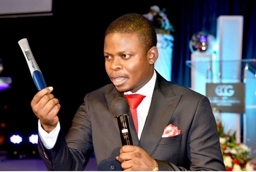 Prophet Shepherd Bushiri introduce anointed pregnancy tests that shows the name of the father